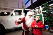 Rest for reindeers: Santa, white taxi and Adam Yacoob, 2, from Ealing