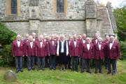The 3 Valleys male choir with new musical director Virginia Finberg