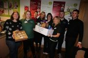 Staff and members of the leisure centre raised £150 for the charity last week.