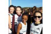 Harriers: The U13 girls team of Cassandra Howard, Megan Driver, Kyra Sethna-McIntosh and Leanne Moore