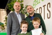 Winners: Children and judges at the Edible Garden Show
