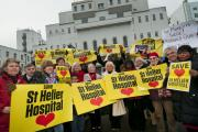 Campaigners outside St Helier Hospital last year