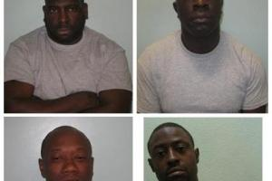Four men jailed for more than 25 years for masked armed robbery