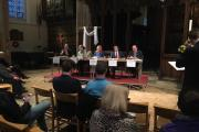 Five out of six candidates were present at the General Election hustings.