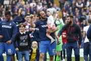 Taking it all in: Glenn Murray and co enjoy a lap of honour after Saturday's 1-0 win over Swansea City