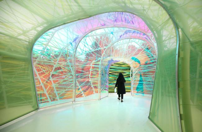 Serpentine Gallery's new multi-coloured summer pavilion in Kensington Gardens