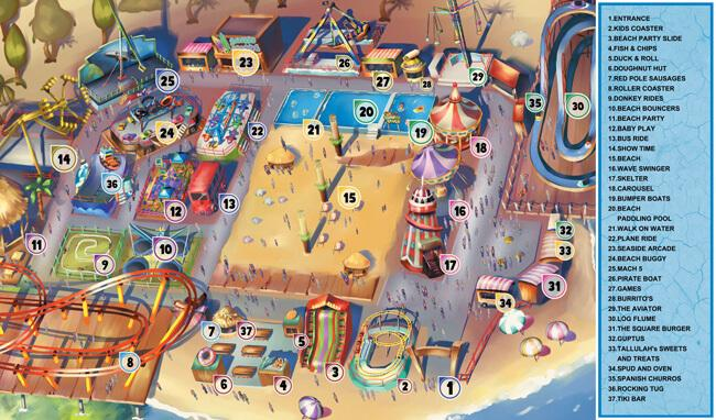A map of the beach scene at Brent Cross