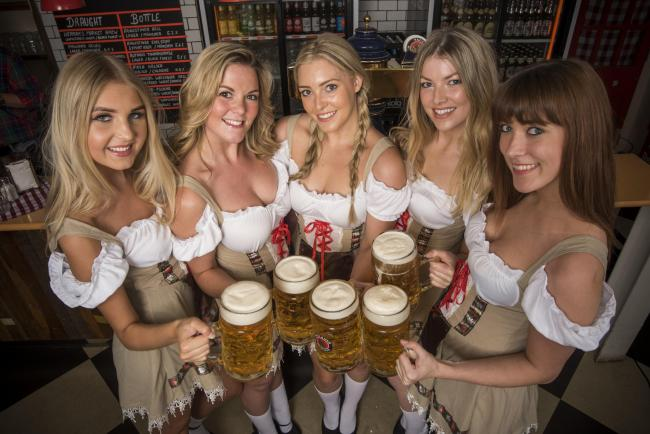 These five ladies aren't THE five highlights in the headline but they are among them - as is the beer they're holding. All photos: OktoberFest.London/Lesauvage