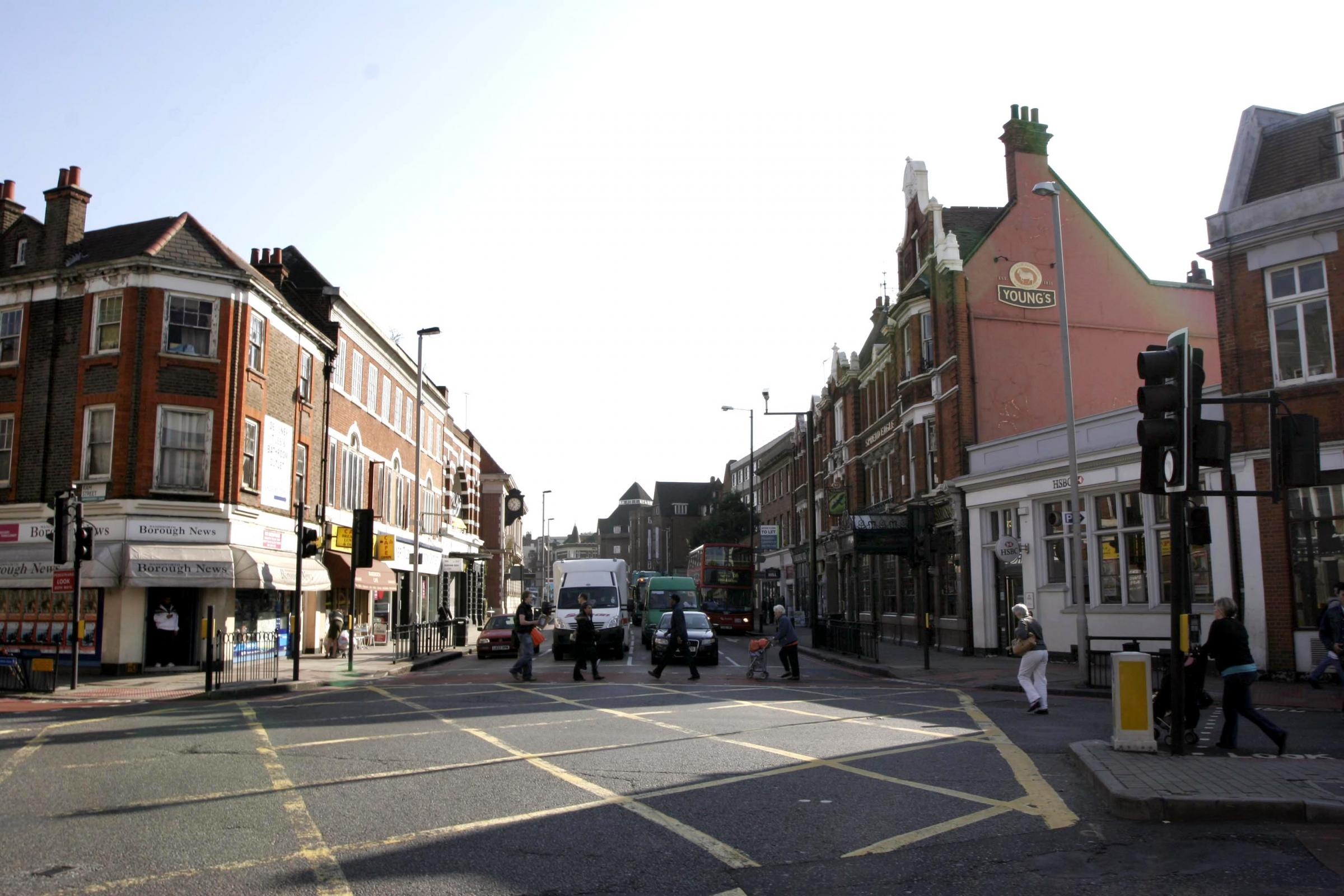 Wandsworth has been named the third most prosperous place in the UK, pictured Wandsworth High Street