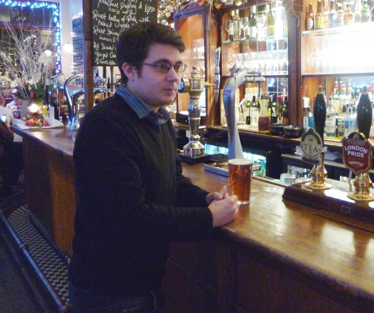 Sam Cullen is visiting a pub near every London Underground station