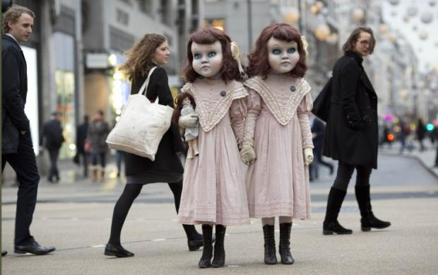 This Is Local London: Creepy Victorian dolls promoting Derren Brown's Thorpe Park attraction