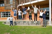 Pupils at St George's College celebrate their success