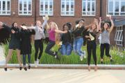 Ursuline students celebrate their results