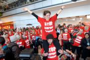 Anti-expansion: Flash mob protestors disrupted the opening of T5