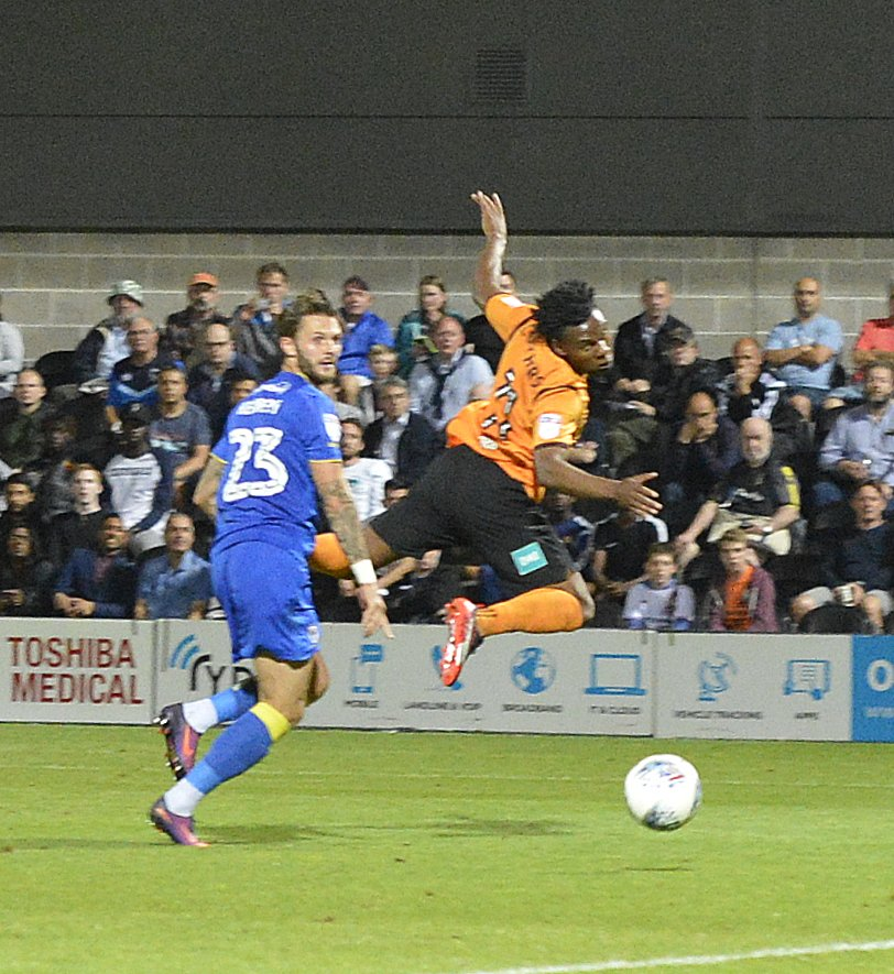 Shaq Coulthirst struck three times as the Bees sunk the Robins. Picture: Len Kerswill