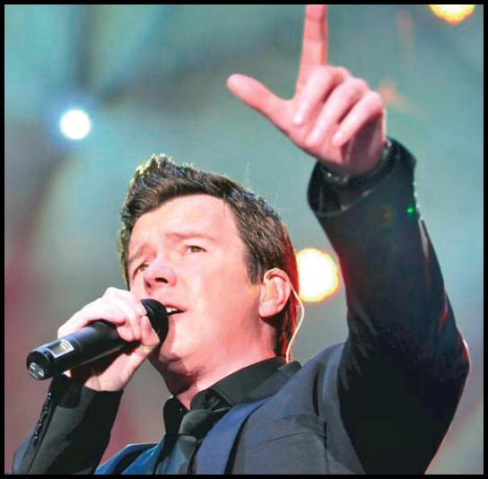 Could Rick Astley be rolling into Morden Park?