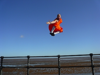 Matthew Ahmet, a Shaolin monk originally from Enfield, shows some of his moves