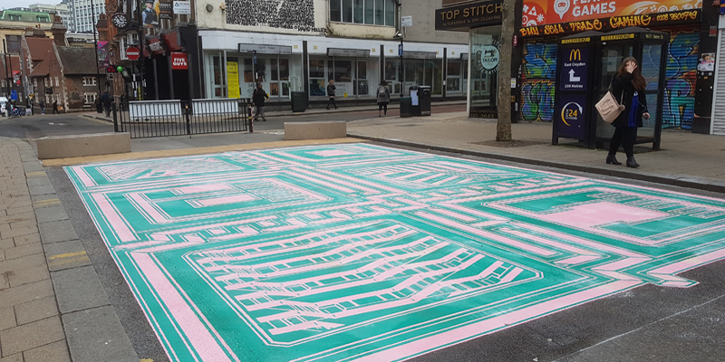 Ground art commissioned to celebrate Croydon's places for people