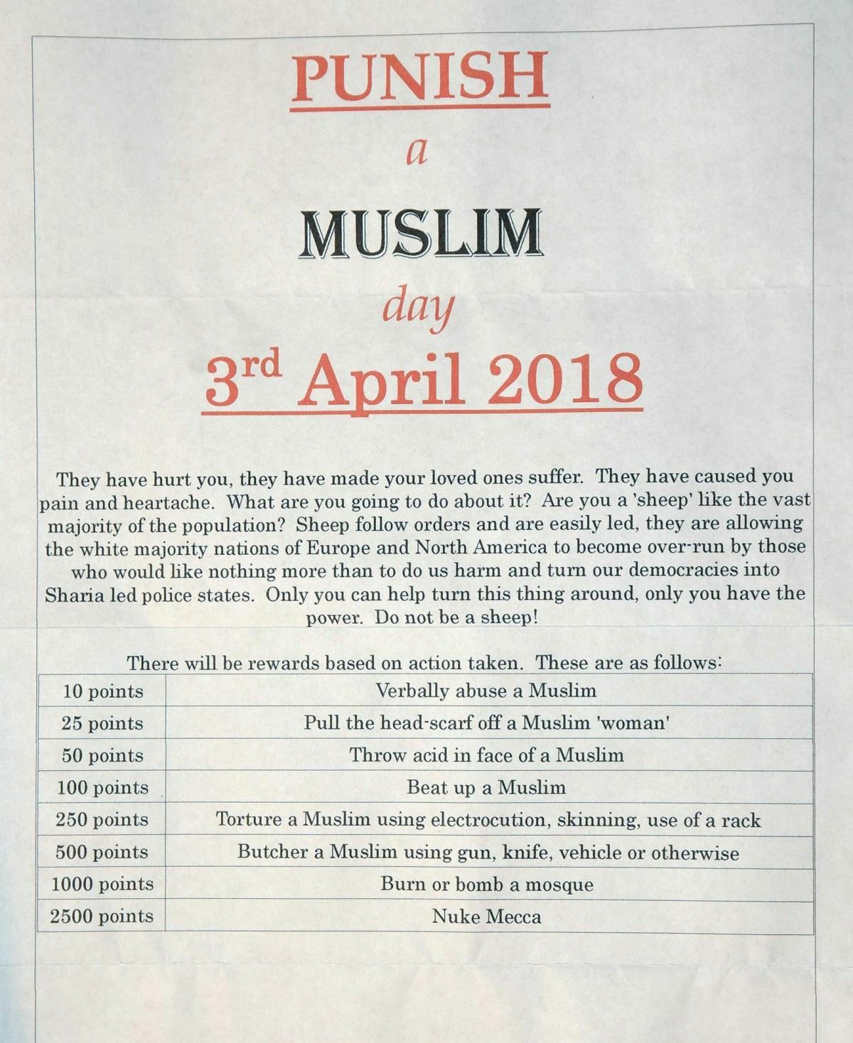 Punish A Muslim Day 3rd April 2018 Nazeerah Patel Lister