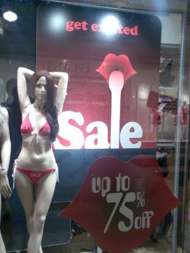 Ann Summers' new sale sign features a risqué image