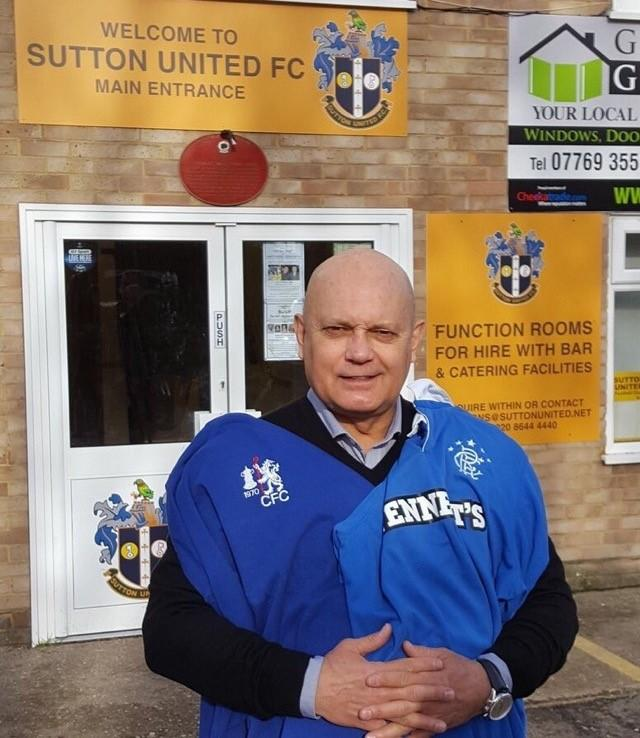 Ray Wilkins was only too pleased to help promote last summer's clash between Chelsea and Rangers legends at Sutton United FC