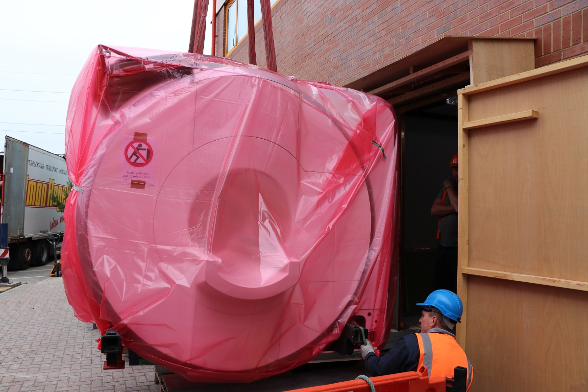 On site: the new scanner arrives at Northwood