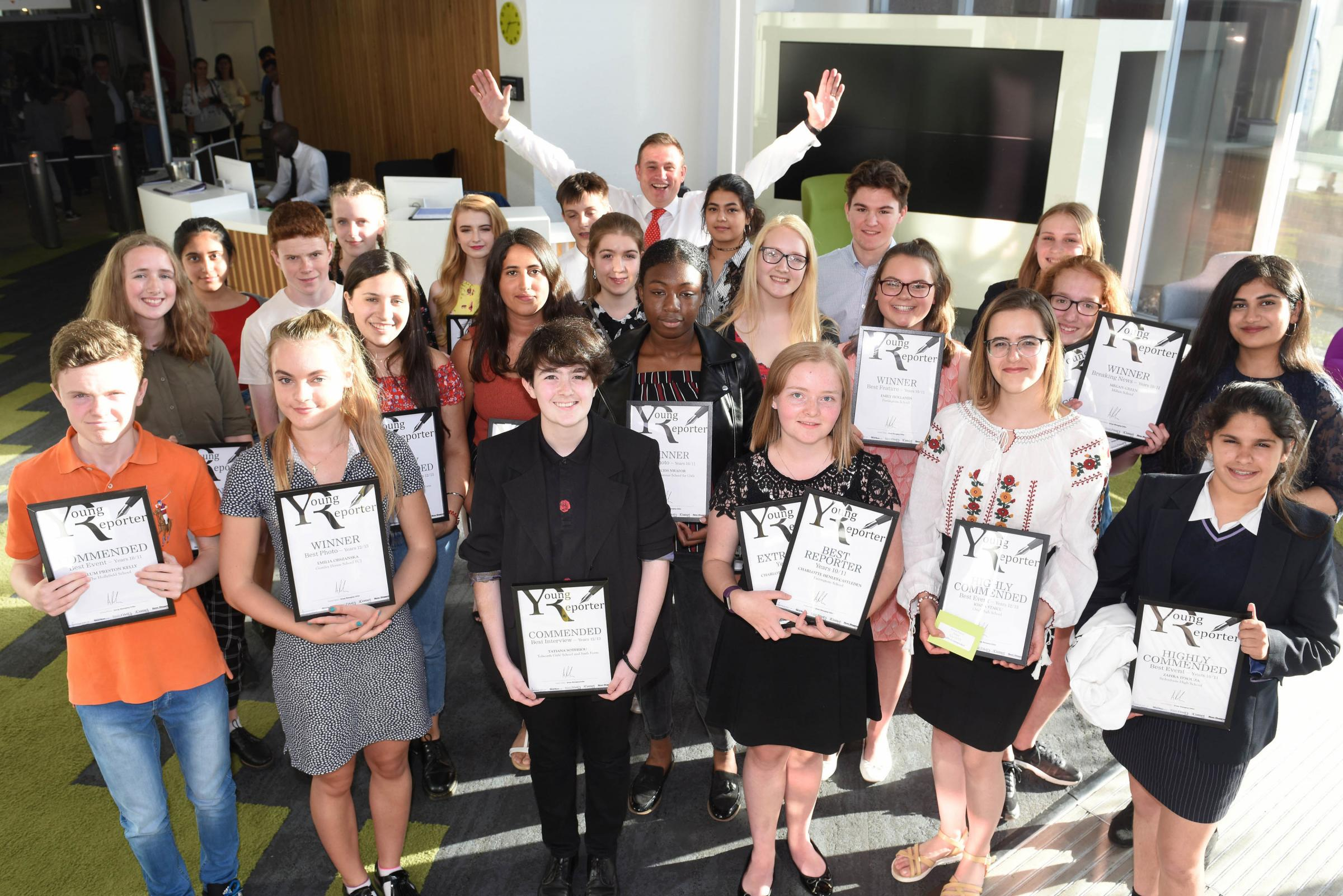The Young Reporter awards ceremony 2018