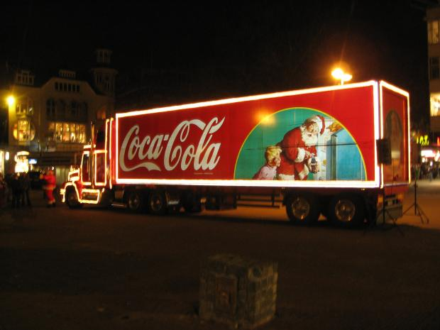 The Coca Cola truck will visit Gravesend and Thamesmead this month and Bluewater in December.