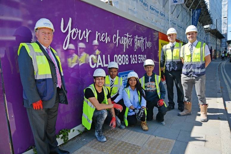Four new recruits embark on careers in the construction industry
