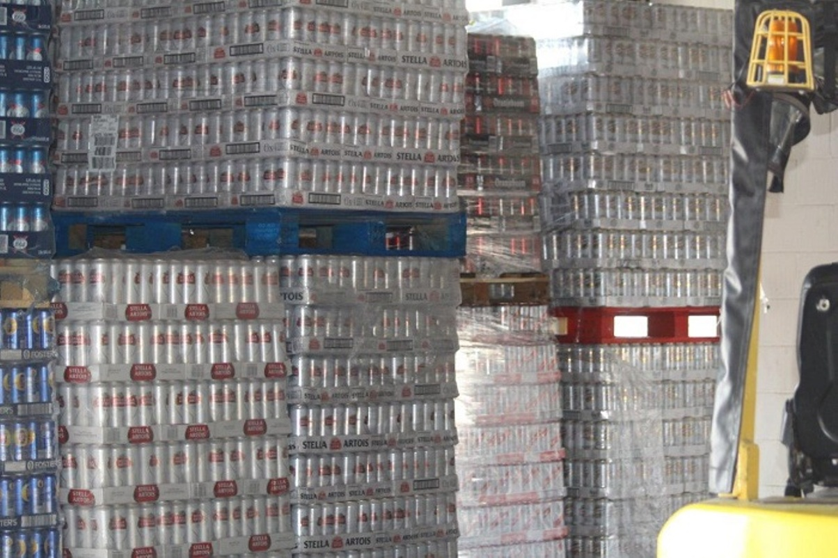 Stellar catch: some of the smuggled alcohol
