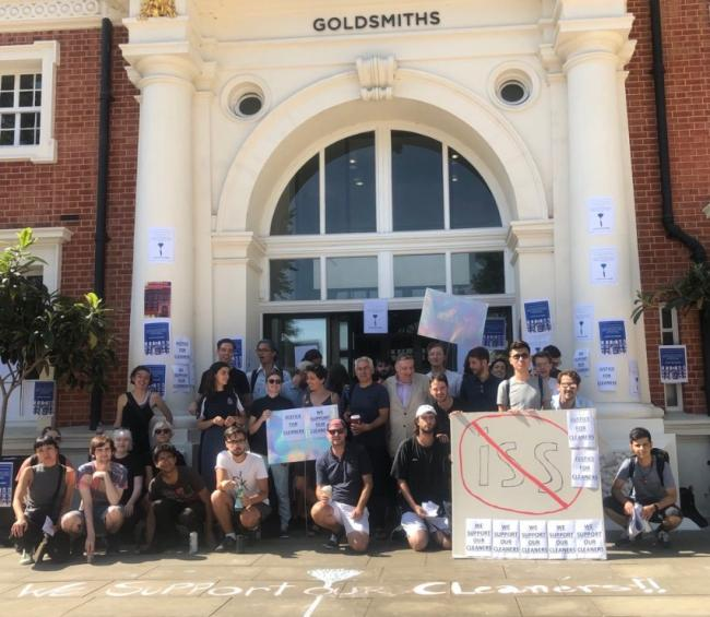The student and staff campaign Justice for Cleaners wants to see cleaners at Goldsmiths University brough in-house