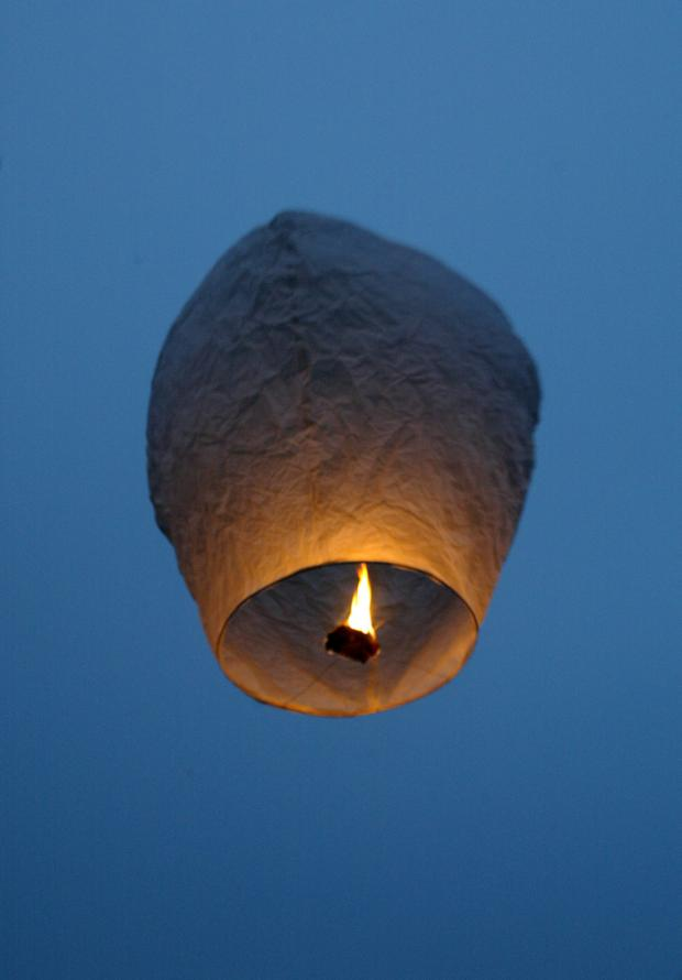 This Is Local London: A glow lantern in the sky