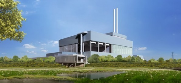 CGI of Beddington Energy Recovery Facility (ERF). Credit: Viridor