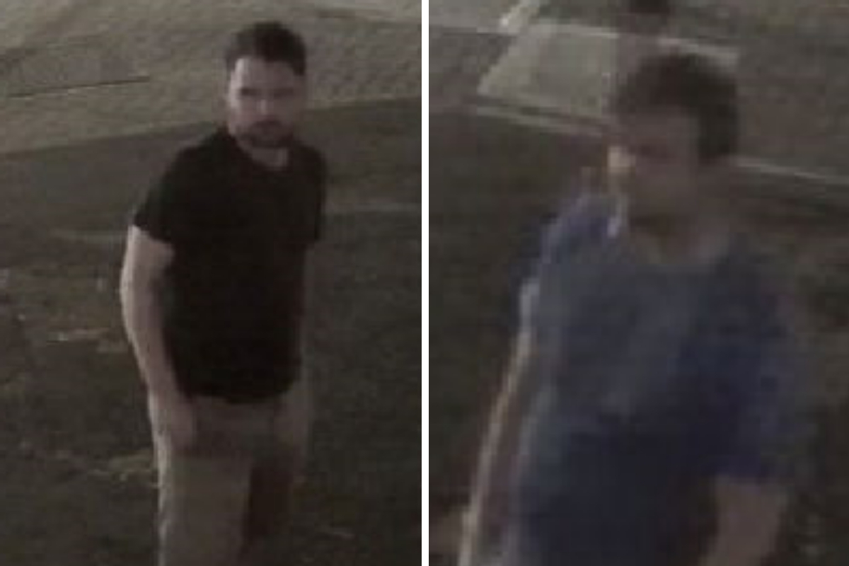 Police have released two images of men who are wanted by officers for questioning