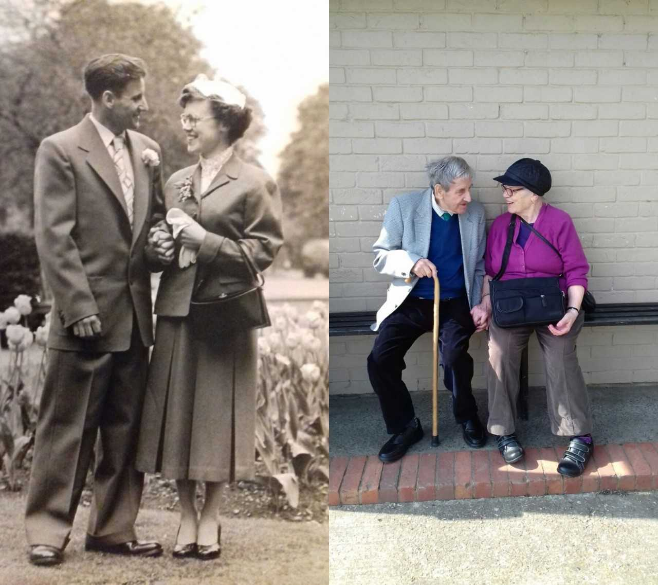 Then and now - Charlie and Audrey rekindle their love