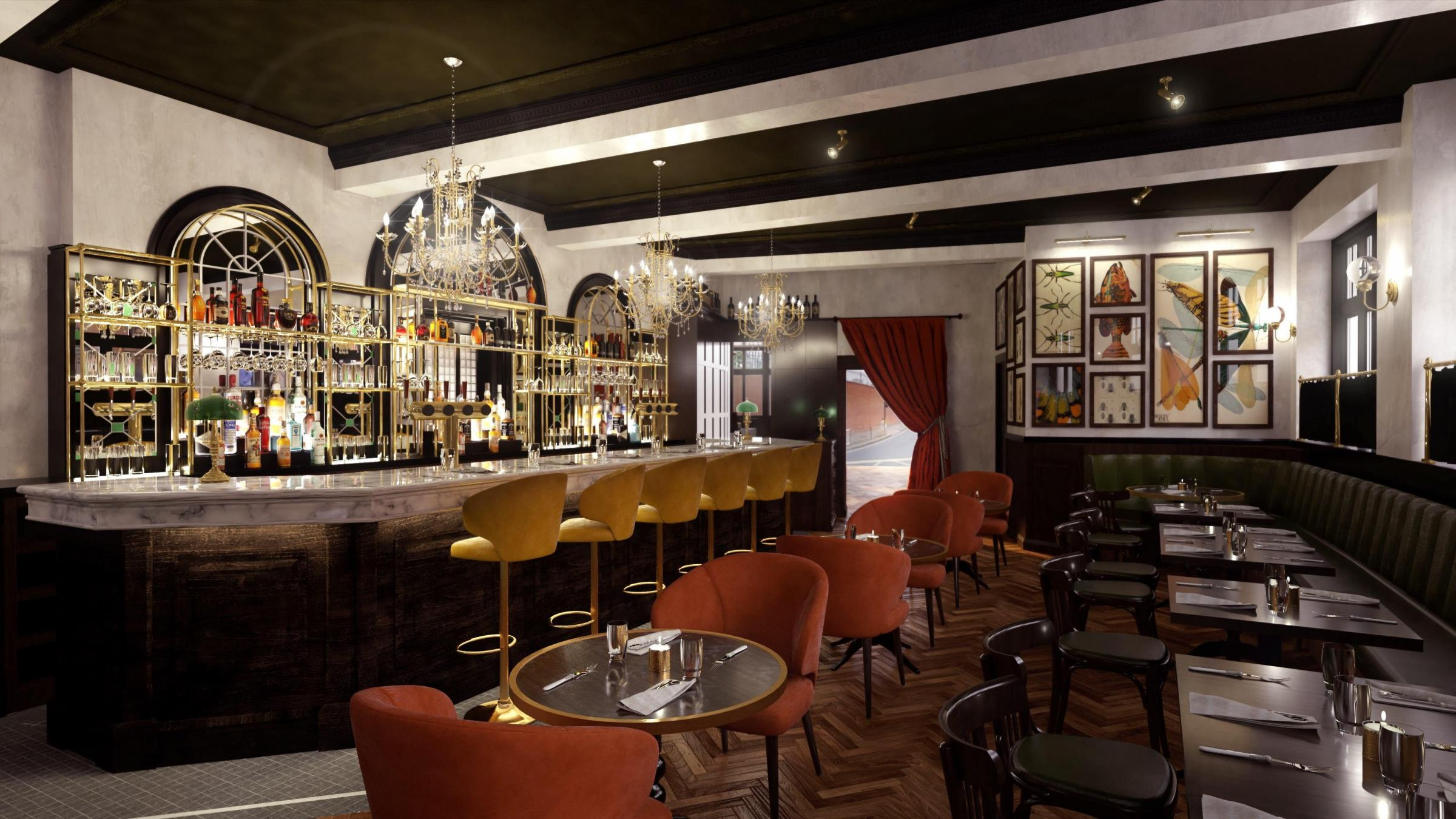 The Bedford - Saloon Bar CGI reduced
