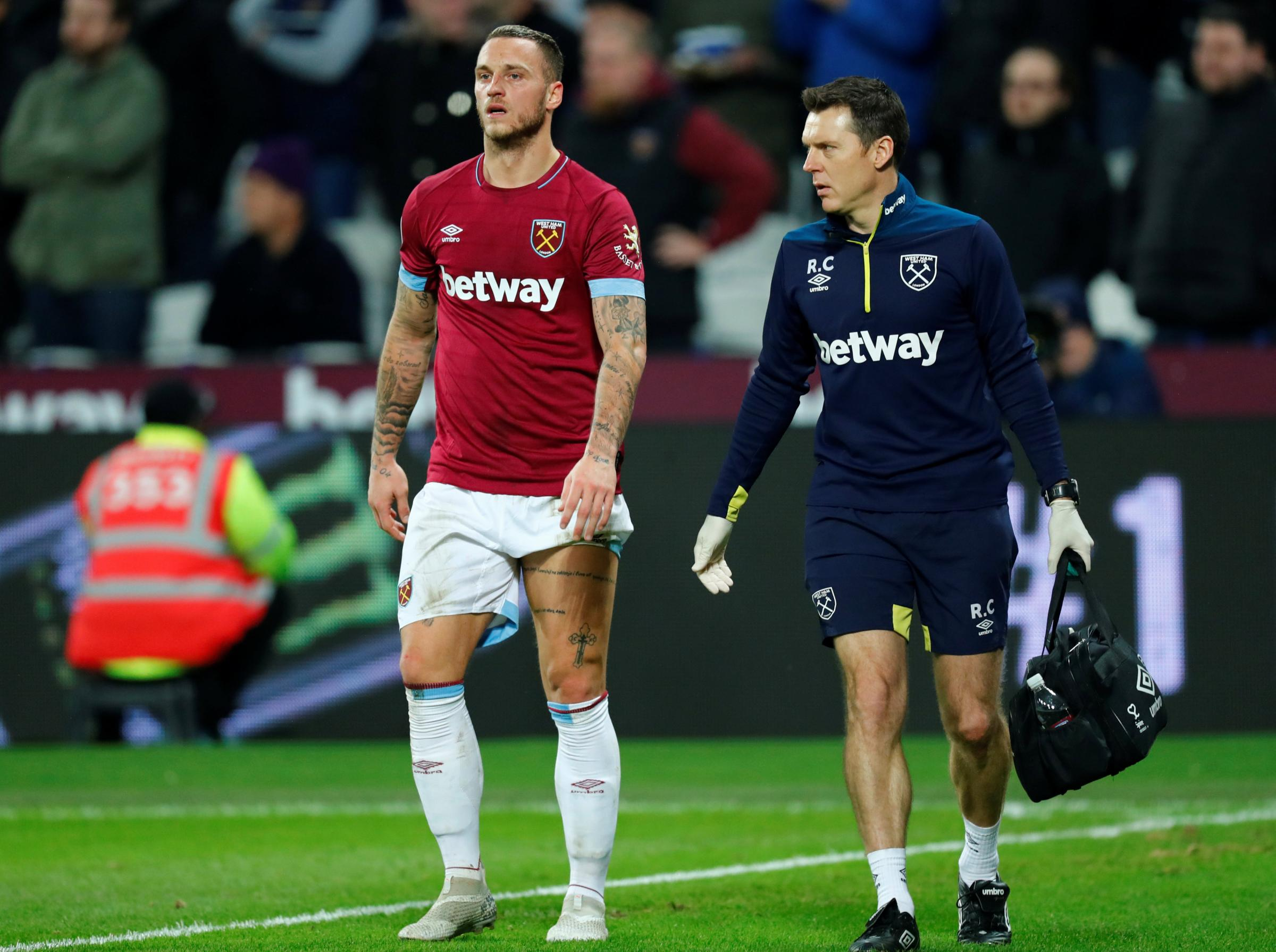 Marko Arnautovic will be out of action until the new year. Picture: Action Images