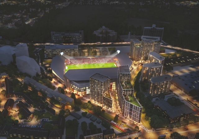 Artist Impression of what the stadium will look like (PIC:Brentford FC)