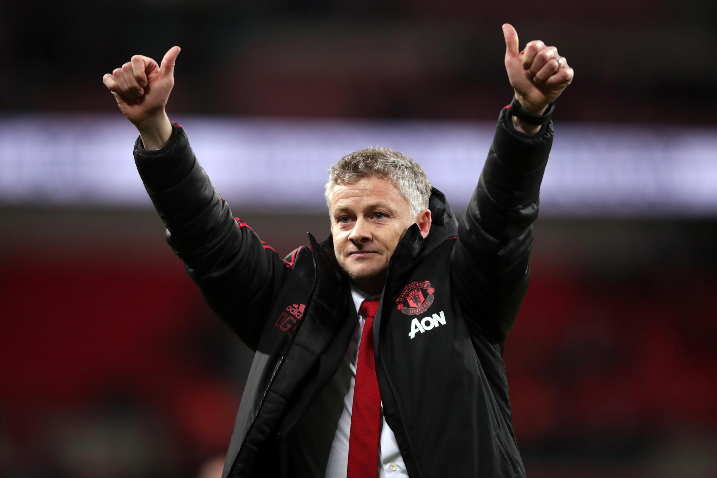Ole Gunnar Solskjaer maintained his 100 per cent record in charge at Old Trafford
