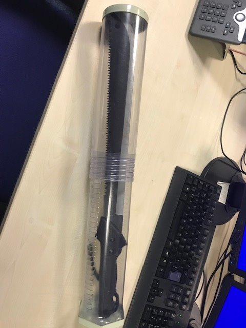 The machete which the 18-year-old was carrying. (Picture credit: Lewisham MPS)