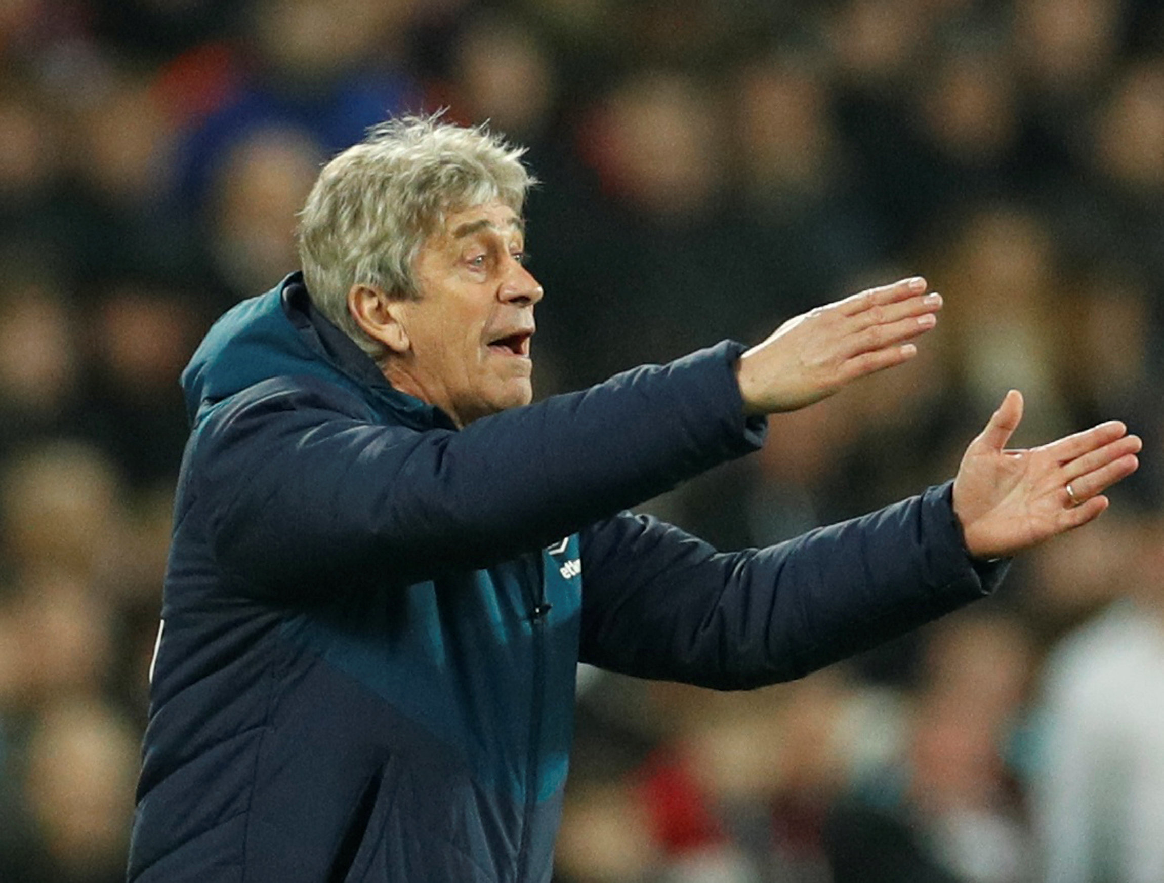 Manuel Pellegrini was frustrated by the manner of Liverpol's goal. Picture: Action Images