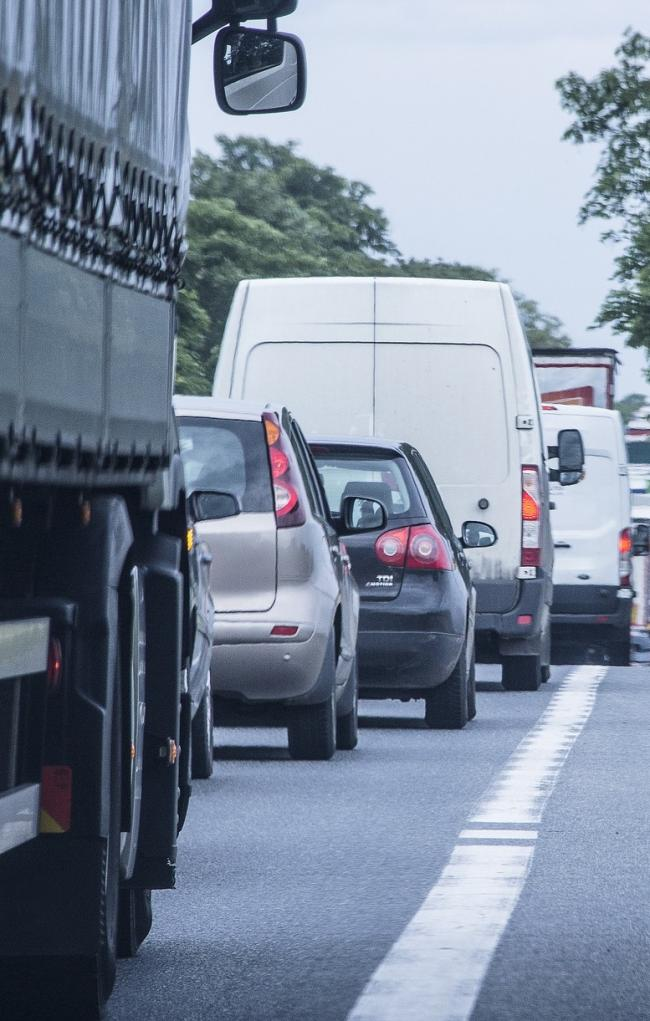 Traffic delays on the A1 northbound due to a collison