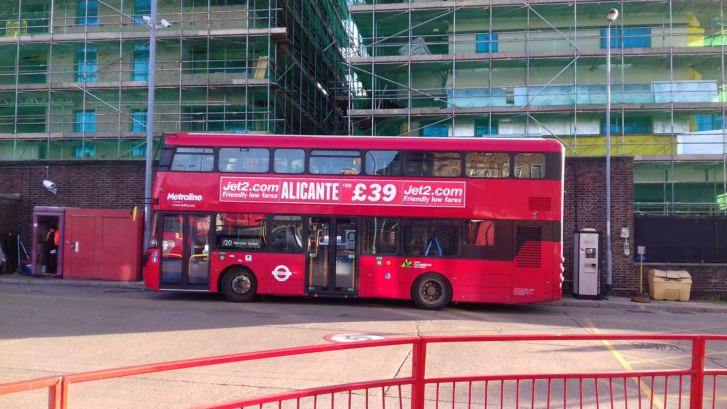 The iconic red London bus in Hounslow bus station. Sarthak Datta, Hampton School