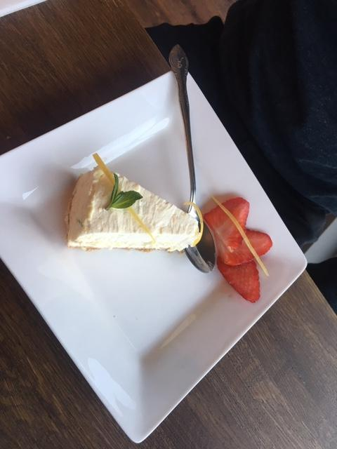 This Is Local London: Lemon cheesecake was a good palate cleanser