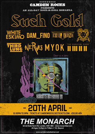 Camden Rocks All Dayer feat. Such Gold and more at The Monarch