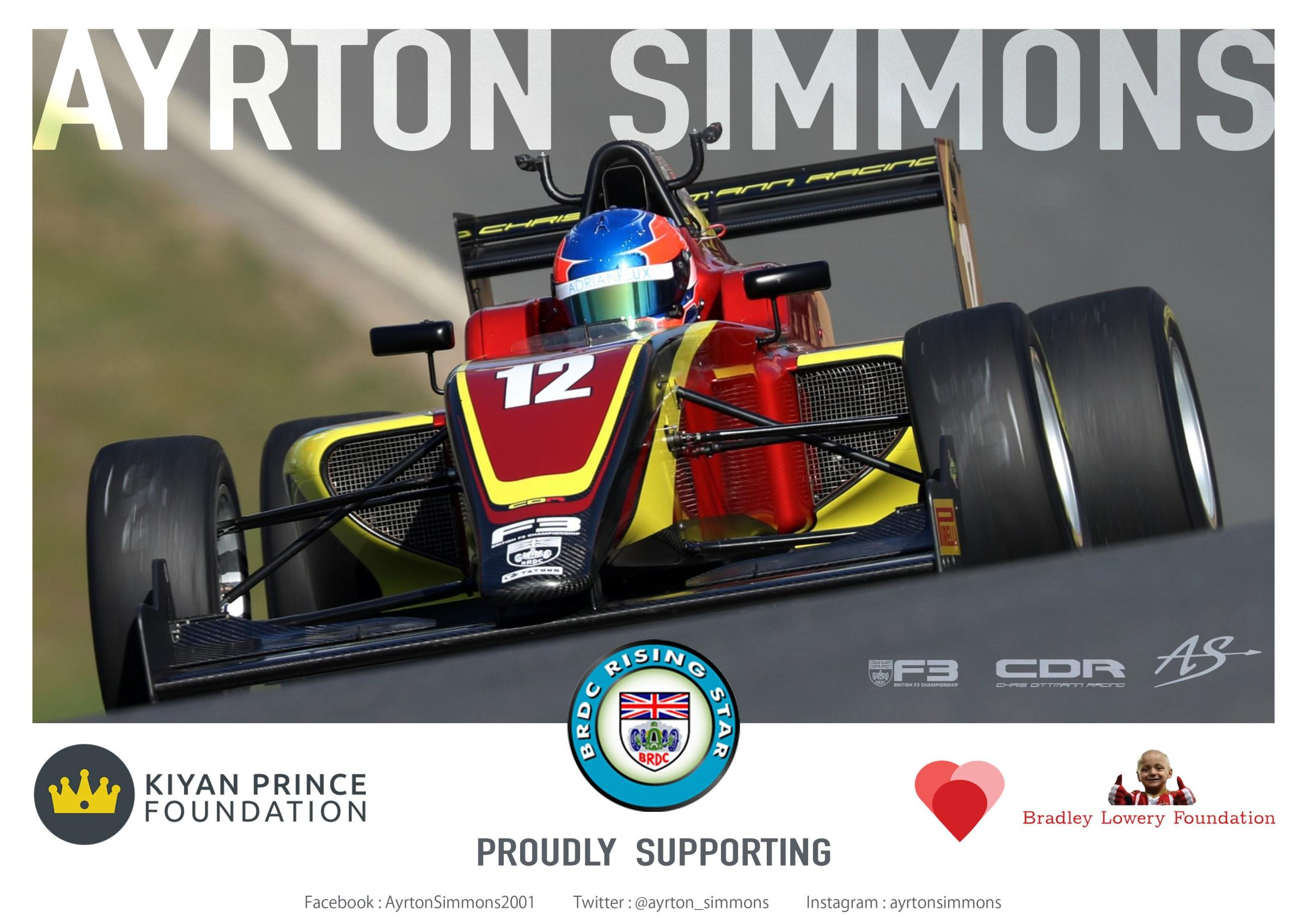 Epping racer Ayrton Simmons has been recognised as a rising star by the British Racing Drivers Club.