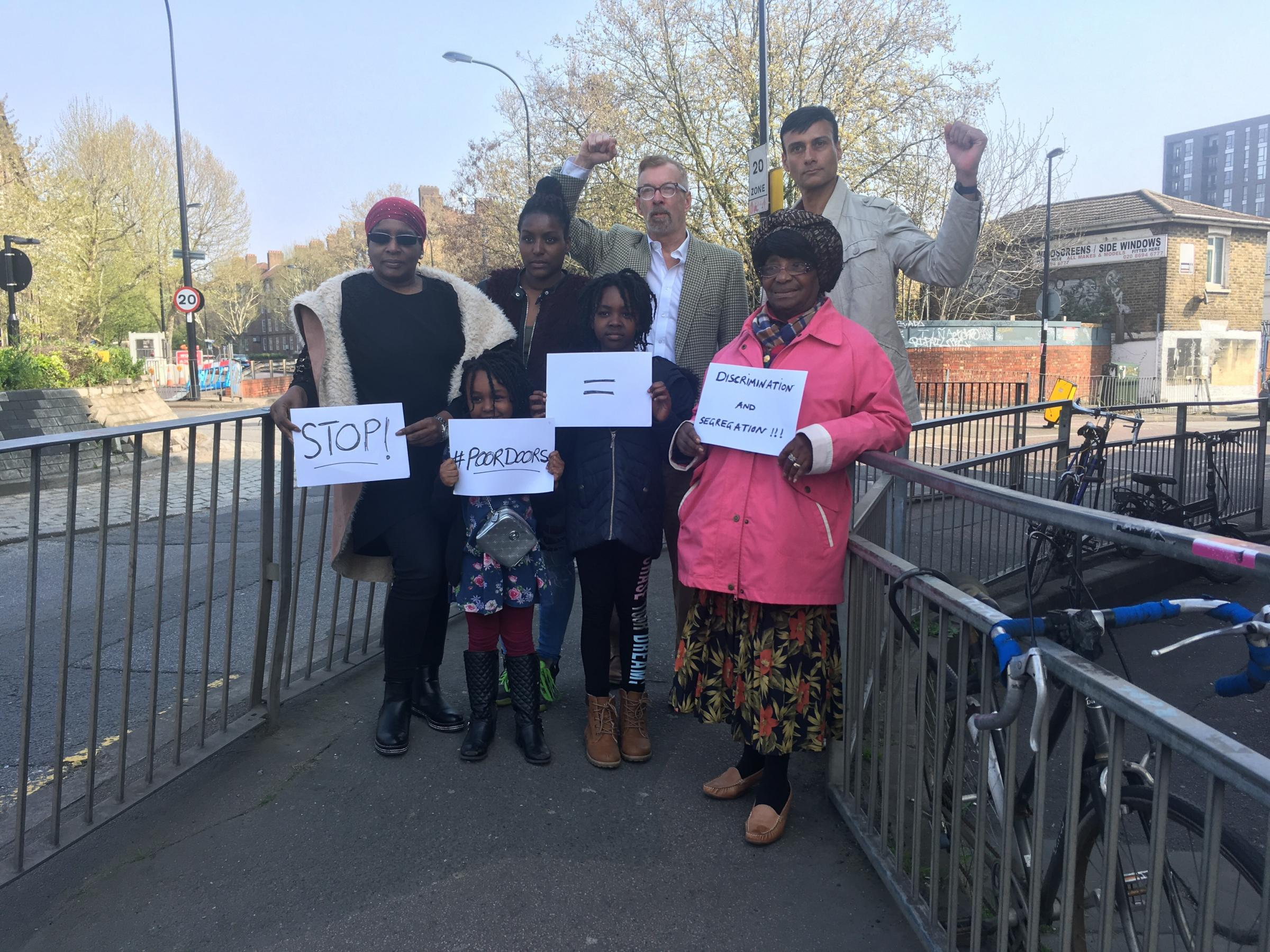 The campaigners have called on the council to stop 'segregated' developments in Lewisham
