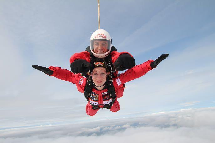 The group will sky dive with the Red Devils on Tuesday, May 21