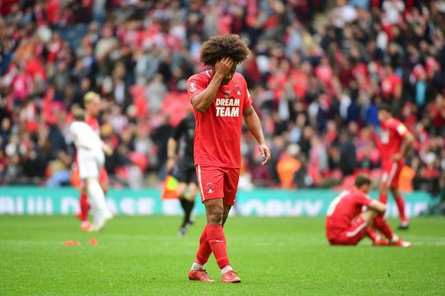 Joe Widdowson of Leyton Orient after his side loses the FA Trophy Final match between Leyton Orient and AFC Fylde. Picture: Dave Winter