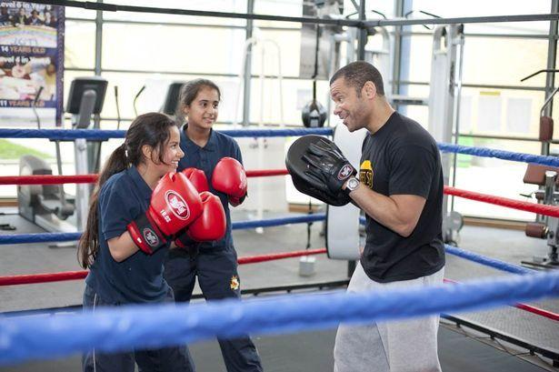Leroy Nicholas teaches boxing at schools across the country